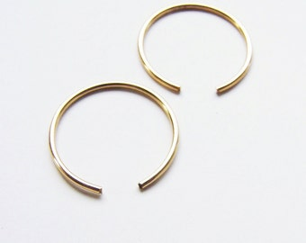 SALE Tiny Open Circle Gold Rings Earrings