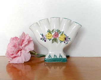 small vase, vintage hand painted Japan, 5 single flowers, home decor, flower arranging