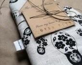 Oven-Mitt/Handmade/Hand-printed/Nesting dolls/Black/Matrioshka/FREE SHIPPING