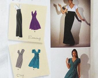 Simplicity evening and day dress sewing pattern2549 size H5 6-14