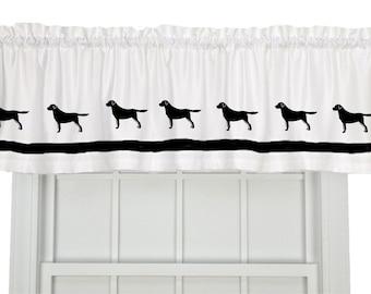 Labrador Retriever Window Valance Curtain Your Choice of Colors