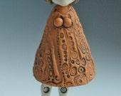 FAN PULL, Female Fan Pull, Clay Fan Pull, Ceramic Fan Pull, People, Sculpture, Clay Sculpture, Ceramic Sculpture, Hand Painted Fan Pull