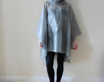 Silver Party Poncho
