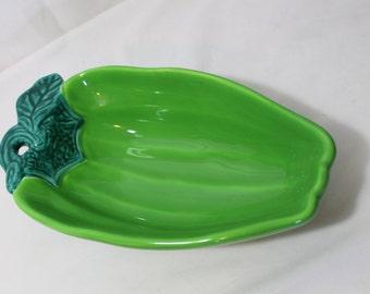 Vintage Jalapeno Pepper Pottery Bowl