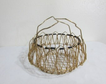 Wire Basket Unique Golden Egg or Steamer Basket