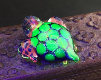 Galaxy Turtle Pendant w/ UV Glass
