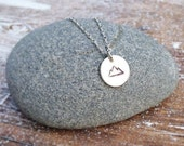 Mountain Necklace Sterling Silver Nature Wanderlust Wilderness Hiking Camping Backpacking The Mountains are Calling