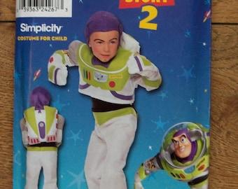 2000 simplicity pattern 9385 toy story Buzz Light Year costume sz 3-4-5-6-7-8 uncut children boy girl