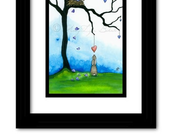 Wildlife Wonders - One & Only Valentine Cottontail Rabbit - Art Prints by Bihrle wd94