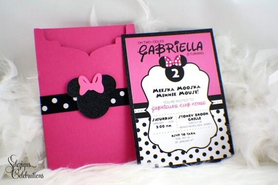 Minnie mouse birthday invitations glitter minnie head polkadots il570xn filmwisefo
