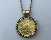 CZECH REPUBLIC - One of a Kind 1999 Czech Coin Necklace - Reversible
