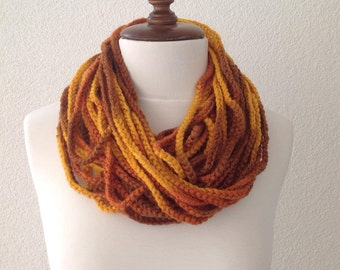 Infinity Scarf Loop Scarf Circle Scarf Cowl Scarf, Multicolor Chain Scarf