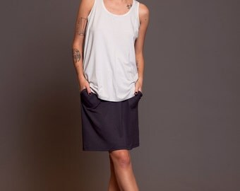 Jersey Loose fit mini skirt