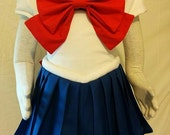 Child's Sailor Moon - All Sailor Scouts Available Cosplay. Skirt, Front/Back Bow and Collar!