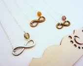 Friendship necklaces, infinity necklace. Best friend gift. Charm necklace, choose your bead. Set of three necklaces, friends forever.