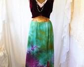 Small Maxi Skirt/Nebula Skirt/Maxi Tie Dye/Upcycled Clothing/Tye Dye Clothing/Tie Dye Maxi Skirt/Maxi Skirt/Music Festival Clothing/Eco