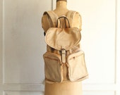 vintage leather backpack laptop bag large distressed