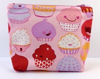 POUCH- Kawaii Cupcakes **handmade**