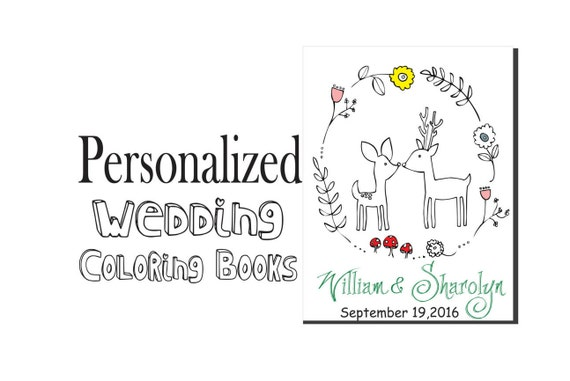 RUSTIC Wedding Coloring Book Customize