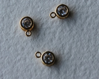 cubic zirconia gold plated