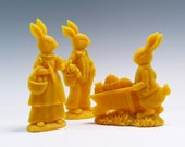 Beeswax Easter Bunny Ornaments (3) Easter Decoration Easter Rabbit Beeswax Easter Rabbits Chocolate Molds Easter Eggs Besswax Ornament