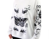 Harry Style Tattoos Sweatshirt Sweater Updated shirt – Size S M L XL