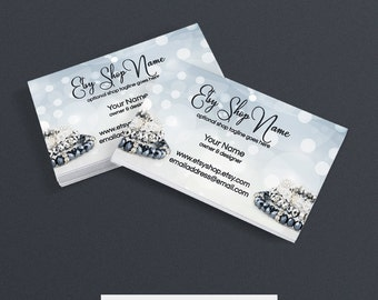 Business Card Designs - Printable Business Card Design - Jewelry Business Card Design - Jewelry 8
