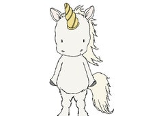 Children Art -- Little Unicorn -- Unicorn Nursery Art -- Kids Wall Art