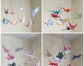 Custom Mobile, Crane Mobile, Paper Crane Mobile, Baby Mobile, Custom Nursery Decor, Bird Nursery Decor, Baby Shower Gift, Paper Crane Decor