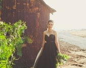 The Black and Gold Bridal Bustier Gown/Wedding Dress As seen on RuffledBlog.com