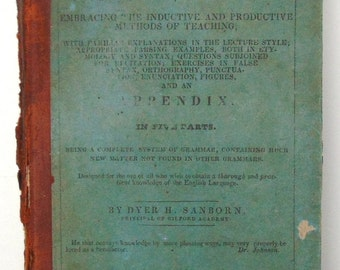Analytical Grammar Of The English Language 1837
