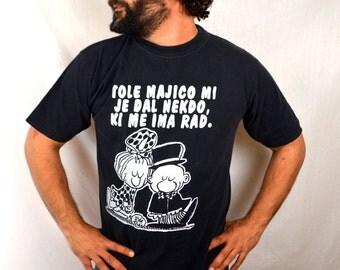 Vintage 1980s Cute Cartoon Tshirt Tee Shirt