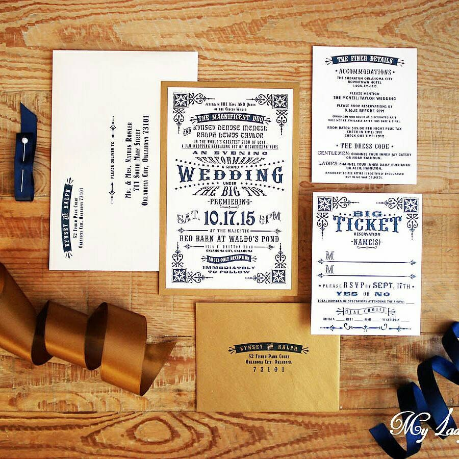 100 Vintage Circus Wedding Invitations The Jenny Collection
