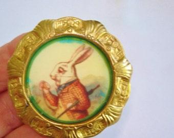 Rabbit Vintage Jewelry  Animal Brooch