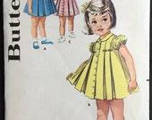 Butterick 9991 Vintage Pleated Toddler Dress Pattern Size 2 1950s