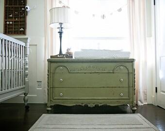 olive green vintage dresser