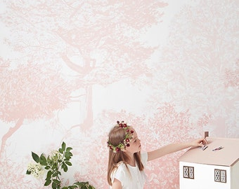 Hua Trees Mural Pink
