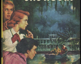 Vintage Nancy Drew The Haunted Showboat, Carolyn Keene, Mystery Book, Girl Detective Series, 1950s