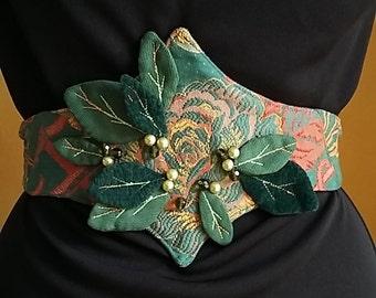 Deep forest corseted belt