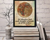 Dictionary Globe Print Wall Artwork Missionary Pioneer Typography Scripture JW Printable - Stick to Your Story