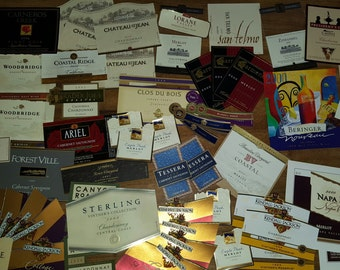 Lot of Over 70 Vintage but Unused Napa Valley Wine Labels for Crafting Scrapbooking Decoupage FREE Shipping