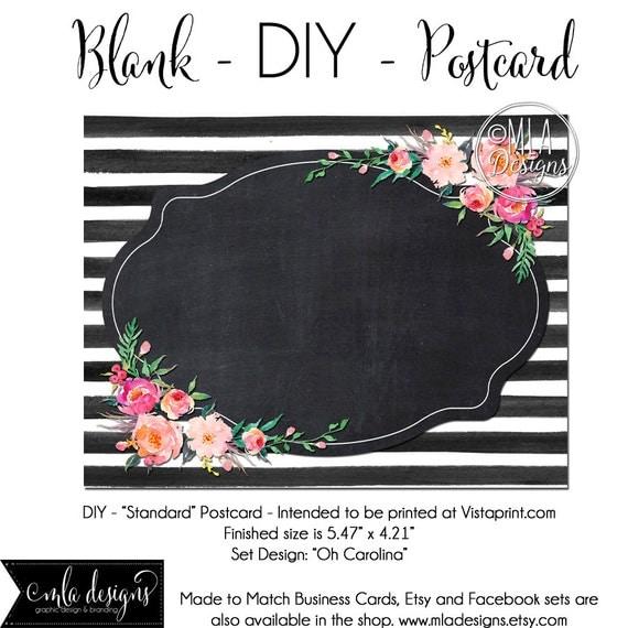 diy vistaprint standard size postcard oh carolina blank. Black Bedroom Furniture Sets. Home Design Ideas