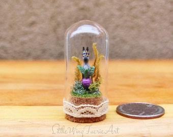 Royal Bunny with Radish -  Miniature Terrarium