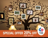 Wall Decal Family Tree Wall Decal Sticker Family Photo Tree Family Like Branches on a Tree Vinyl Wall Sticker Photo Tree Decal Tree Family