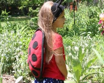 Ladybug Costume and Antenna Headband Costume Set for Children