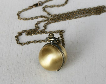 Ball Watch Necklace, Ball Necklace, Pocket watch necklace