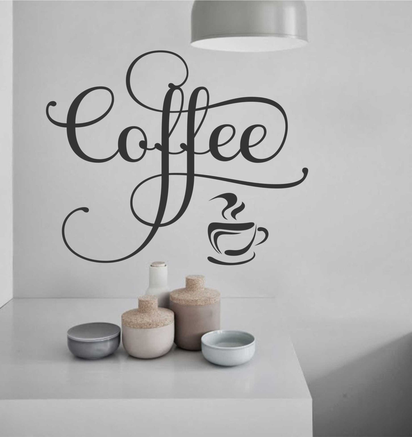 Coffee Cup Decal Vinyl Wall Lettering Vinyl Decals Wall