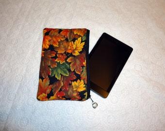 Autumn Leaf Kindle Fire Cover - Fall Makeup Bag