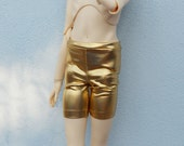 BJD gold wet look surface shorts sd, msd, yosd various sizes
