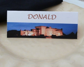 Place Cards/ Name Cards/ Food Tents  - Markee Castle Ireland - Set of 6- Table Decoration